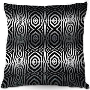 Decorative Outdoor Patio Pillow Cushion | Susie Kunzelman - Animal Stripes | Abstract Pattern