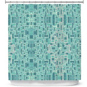 Premium Shower Curtains | Susie Kunzelman - Aqua Tech | Pattern repetition mosaic
