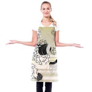 Artistic Bakers Aprons | Susie Kunzelman - Atmosphere 2 | abstract cream sky