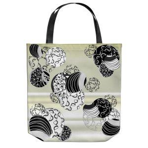 Unique Shoulder Bag Tote Bags | Susie Kunzelman - Atmosphere 2 | abstract cream sky