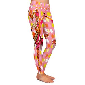 Casual Comfortable Leggings | Susie Kunzelman - Ballerina Polka Dot | pattern silhouette dancer