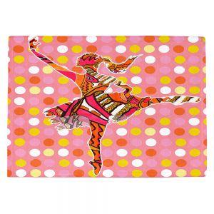 Countertop Place Mats | Susie Kunzelman - Ballerina Polka Dot | pattern silhouette dancer