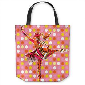 Unique Shoulder Bag Tote Bags   Susie Kunzelman - Ballerina Polka Dot   pattern silhouette dancer