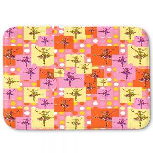 Decorative Bathroom Mats | Susie Kunzelman - Ballerina Polka Dot Pattern | pattern silhouette dancer