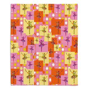 Artistic Sherpa Pile Blankets | Susie Kunzelman - Ballerina Polka Dot Pattern | pattern silhouette dancer