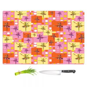 Artistic Kitchen Bar Cutting Boards | Susie Kunzelman - Ballerina Polka Dot Pattern | pattern silhouette dancer