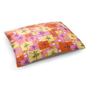 Decorative Dog Pet Beds | Susie Kunzelman - Ballerina Polka Dot Pattern | pattern silhouette dancer