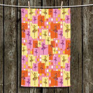 Unique Hanging Tea Towels | Susie Kunzelman - Ballerina Polka Dot Pattern | pattern silhouette dancer