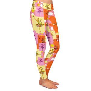 Casual Comfortable Leggings | Susie Kunzelman - Ballerina Polka Dot Pattern | pattern silhouette dancer
