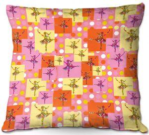 Throw Pillows Decorative Artistic   Susie Kunzelman - Ballerina Polka Dot Pattern   pattern silhouette dancer