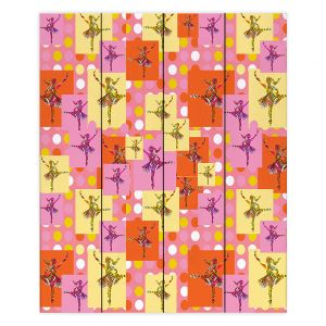 Decorative Wood Plank Wall Art   Susie Kunzelman - Ballerina Polka Dot Pattern   pattern silhouette dancer