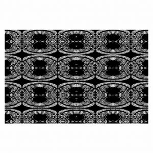Decorative Floor Coverings | Susie Kunzelman Black Curtain II
