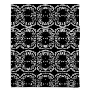 Decorative Fleece Throw Blankets | Susie Kunzelman - Black Curtain II