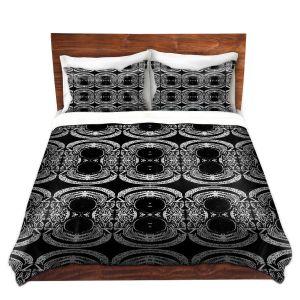 Artistic Duvet Covers and Shams Bedding | Susie Kunzelman - Black Curtain II