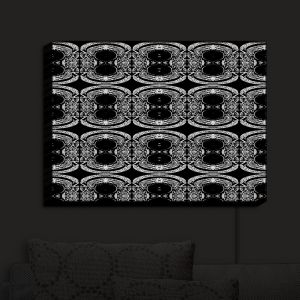 Nightlight Sconce Canvas Light | Susie Kunzelman - Black Curtain II | Patterns