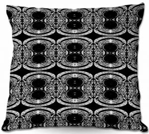 Throw Pillows Decorative Artistic | Susie Kunzelman's Black Curtain II
