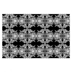 Decorative Floor Coverings | Susie Kunzelman Black Swag