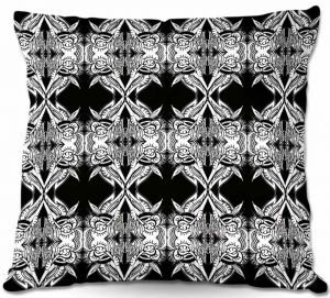 Decorative Outdoor Patio Pillow Cushion | Susie Kunzelman - Black Swag