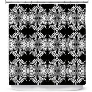 Premium Shower Curtains | Susie Kunzelman Black Swag