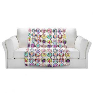 Artistic Sherpa Pile Blankets | Susie Kunzelman - Bocci l | Patterns Geometric Boho Chic