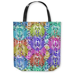 Unique Shoulder Bag Tote Bags | Susie Kunzelman - Butterfly Party | Patterns Abstract