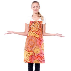 Artistic Bakers Aprons | Susie Kunzelman - Cabbage Rose Circle | Geometric Abstract