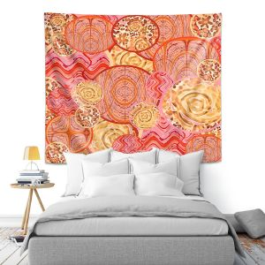 Artistic Wall Tapestry | Susie Kunzelman - Cabbage Rose Circle | Geometric Abstract