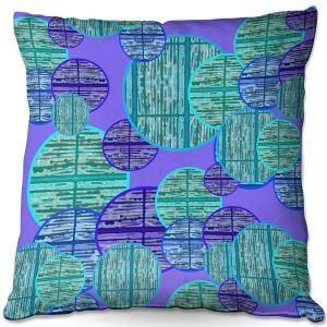 Decorative Outdoor Patio Pillow Cushion | Susie Kunzelman - Circle Sphere 3 | Geometric Pattern