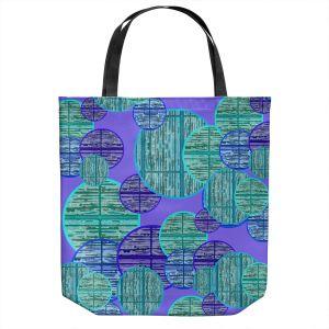 Unique Shoulder Bag Tote Bags | Susie Kunzelman - Circle Sphere 3 | Geometric Pattern