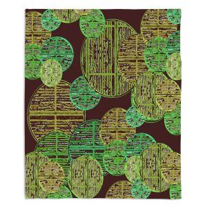 Decorative Fleece Throw Blankets | Susie Kunzelman - Circle Sphere 4 | Geometric Pattern