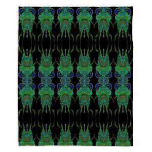 Artistic Sherpa Pile Blankets | Susie Kunzelman Deep Blue Sea II