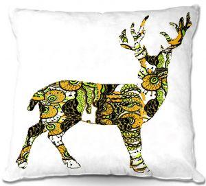 Decorative Outdoor Patio Pillow Cushion | Susie Kunzelman - Deer II