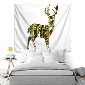 Artistic Wall Tapestry   Susie Kunzelman Deer II