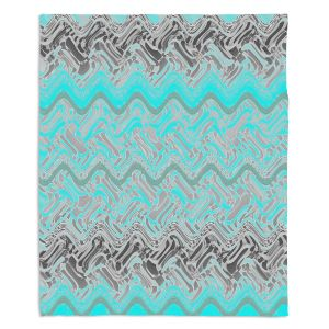 Decorative Fleece Throw Blankets | Susie Kunzelman - Ditto 1 | Abstract pattern