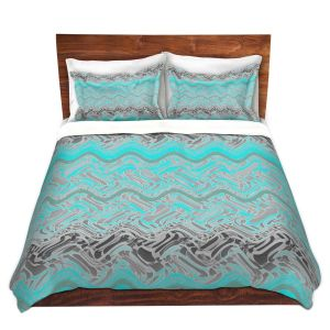 Artistic Duvet Covers and Shams Bedding | Susie Kunzelman - Ditto 1 | Abstract pattern
