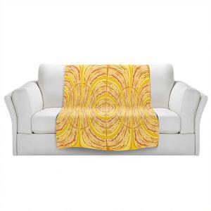 Artistic Sherpa Pile Blankets | Susie Kunzelman - Door Number 1 | Abstract pattern