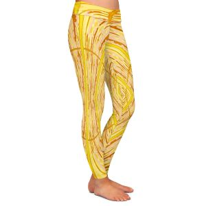 Casual Comfortable Leggings | Susie Kunzelman - Door Number 1 | Abstract pattern