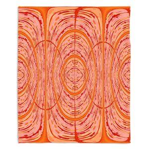 Decorative Fleece Throw Blankets | Susie Kunzelman - Door Number 2 | Abstract pattern