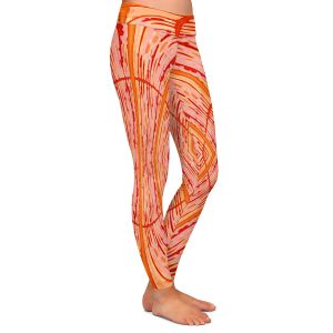 Casual Comfortable Leggings | Susie Kunzelman - Door Number 2 | Abstract pattern