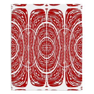 Artistic Sherpa Pile Blankets | Susie Kunzelman - Door Number 6 | Abstract pattern