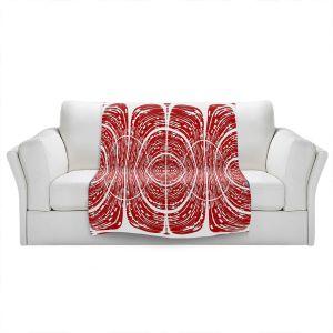 Artistic Sherpa Pile Blankets | Susie Kunzelman - Door Number 6 | Abstract pattern