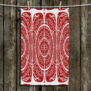Unique Bathroom Towels | Susie Kunzelman - Door Number 6 | Abstract pattern