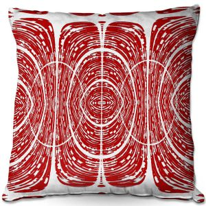 Decorative Outdoor Patio Pillow Cushion | Susie Kunzelman - Door Number 6 | Abstract pattern