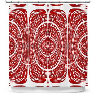 Premium Shower Curtains | Susie Kunzelman - Door Number 6 | Abstract pattern
