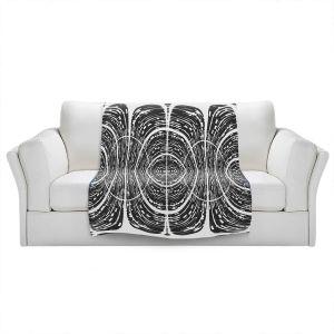 Artistic Sherpa Pile Blankets | Susie Kunzelman - Door Number 7 | Abstract pattern