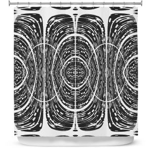 Premium Shower Curtains | Susie Kunzelman - Door Number 7 | Abstract pattern