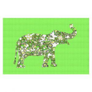 Decorative Floor Coverings | Susie Kunzelman - Elephant II Ribbons Green