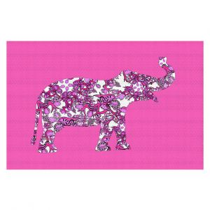 Decorative Floor Coverings | Susie Kunzelman - Elephant II Ribbons Pink