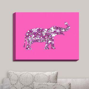 Decorative Canvas Wall Art | Susie Kunzelman - Elephant II Ribbons Pink