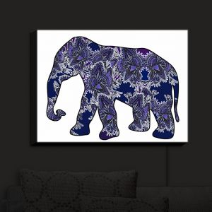 Nightlight Sconce Canvas Light | Susie Kunzelman's Elephant 5